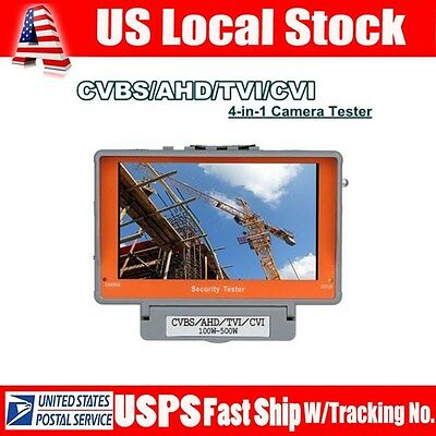 "5"" Display 4-in-1 CVBS/AHD/TVI/CVI Video Camera Tester Monitor UTP cable test"