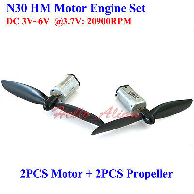 2PCS N30 Mini Engine Motors+Propellers DC 3.7V 20900RPM High Speed for Aircraft
