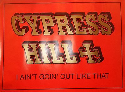"""ALBUM POSTER~Cypress Hill Black Sunday's """"I Ain't Goin Out Like That"""" 30x40~HUGE"""