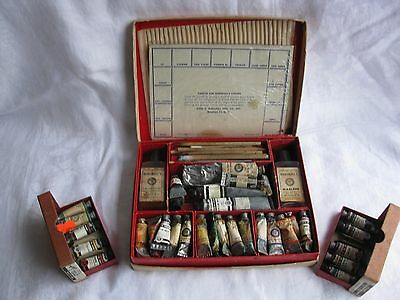 VINTAGE MARSHALLS PHOTO OIL COLORS ACADEMY SET w/ EXTRA TUBES of PAINT