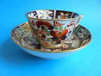 ANTIQUE ROYAL CROWN DERBY IMARI TEA CUP AND SAUCER DUO c1812