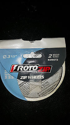 NEW Roto Zip  2 Pack Metal Cut-Off Wheel, Model # RZMET2