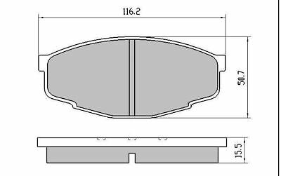 Front Brake Pads DB281 fits Toyota Crown MS123 8/1983-6/1986