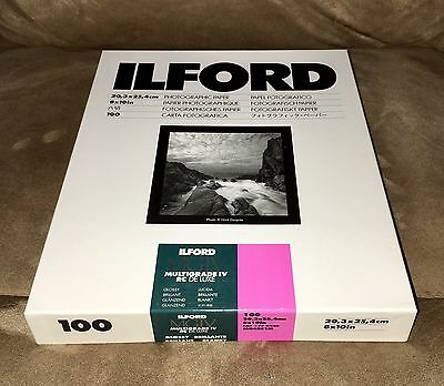 Ilford Multigrade IV RC Deluxe Resin Coated VC Paper, 8x10, 100 Pack Glossy