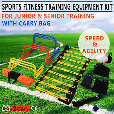 Multi Sports Fitness Training Equipment Kit Set Ladder Markers Ultimate Balance