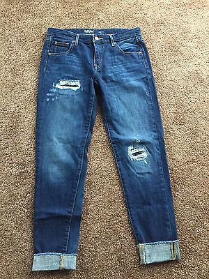 Cute Women's Distressed Mossimo boyfriend Crop Jeans Size 6/28 NWOTs