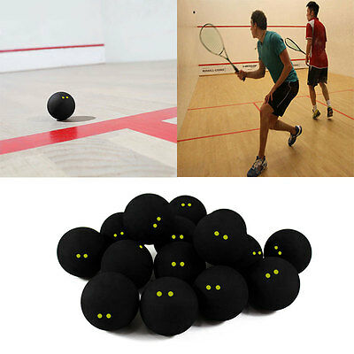 Competition Squash Ball Two-Yellow Dots Low Speed Official Sports Rubber