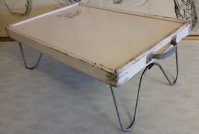 Vintage Wooden Folding Breakfast Bed Serving Tray Table
