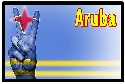 Aruba - Flag / Nation / Peace - Souvenir Novelty Fridge Magnet - New - Gifts