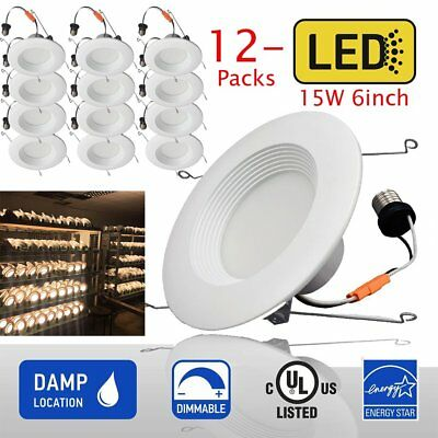12 X DownLight 9W 15W LED Recessed Trim Dimmable 4 6 Inch Retrofit Can Light OY