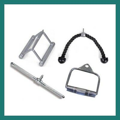 Gym Cable Attachment Package Handle Row Tricep Rope Bar