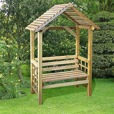 Athena 2 Seater Timber Pressure Treated Relaxation Garden Arbour Wooden Chair