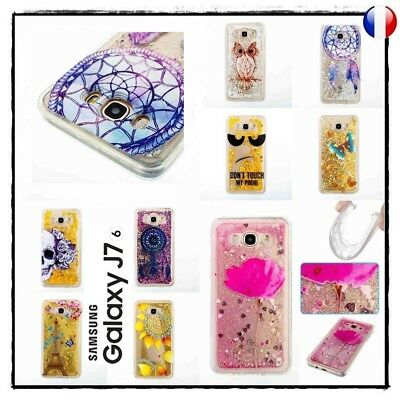 Etui housse coque Paillettes TPU Gel Glitter Case Cover Samsung Galaxy J7 (2016)