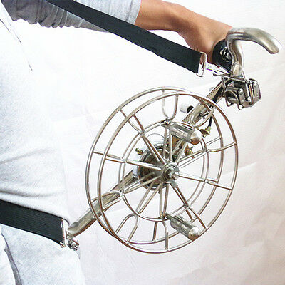 "28cm / 11"" Stainless Kite Line Reel with Brake Control for Large Kites Parafoil"