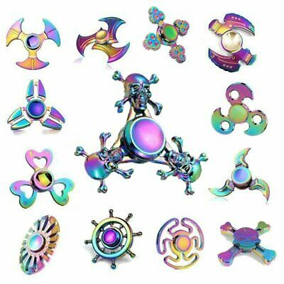 Rainbow Fidget Spinners Metal Hand Spinner Bearing Toys Gyro EDC Toys ADHD Toy