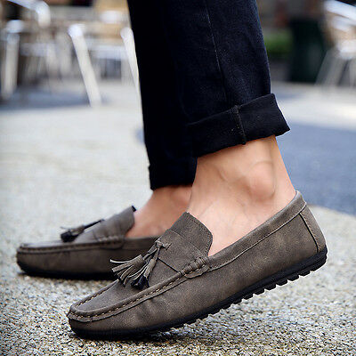 Fashion Men's Leather Slip On Driving Moccasin Loafer Casual Shoes New 2017