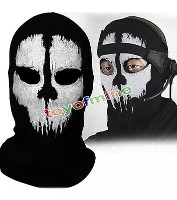 UK Balaclava Ghost Skull Bike Motorcycle Helmet quad Ski Sport Neck Face Mask