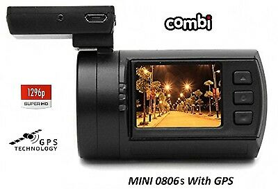 Mini 0806s Super HD 1296P Dash Cam with GPS (2017 release) FREE HARD-WIRE KIT!