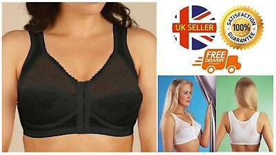 "Perfect Posture Bra Sizes 34"" to 52"", B to E Cup White Or Black Support Lifting"