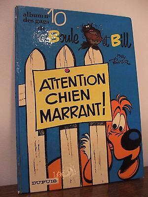 Roba : Boule & Bill / N°10 / Attention Chien Marrant / Dupuis / 1974 / Eo