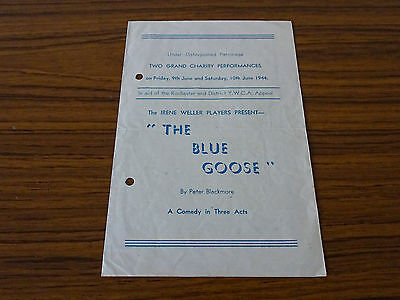 Programme: Irene Weller Players: 1944: The Blue Goose: Rochester Y.W.C.A.
