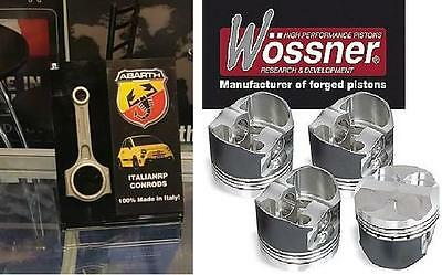 500 Abarth Kit Bielle Conrods Italianrp+ Pistoni Wossner K9470 Forged Pistons