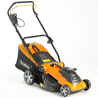 VonHaus 1800W Lawnmower 50L Electric Corded 10m Cable Vary Cutting Push Mower