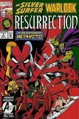 Silver Surfer/Warlock: Resurrection (1993 Ltd) #   3 Very Fine (VFN) MODN AGE