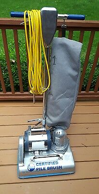 Commercial Certified Pile Brush Model S Dry Carpet Extractor 115 Volt 8 Amp USED