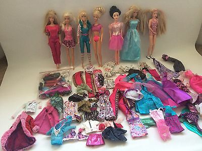 Bundle Of Barbie Sindy Dolls And Clothes & Accessories