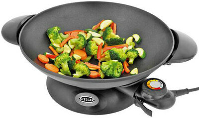 Stellar SEA26 Electric 28cm Family Wok Stir Fry 1800W