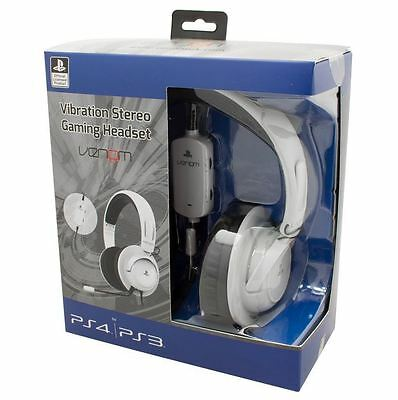 BRAND NEW Official PlayStation Licensed Vibration Gaming Headset- PS3&4 -VS2731R