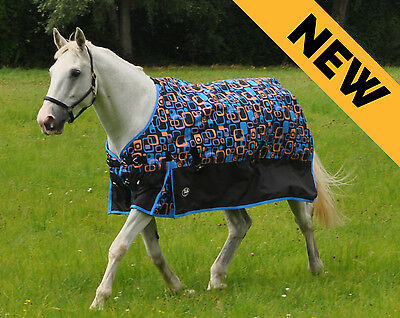 Retro Lightweight Turnout Rug With No Fill Rain Sheet Spring/summer All Sizes