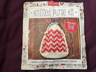 Daisychain Knitted Purse Kit Yarn And Metal Clasp With Out Instruction