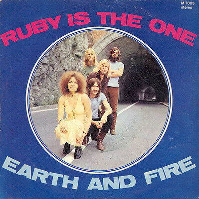 Earth & Fire Ruby Is The One 7 '' Italy Promo Test Pressing Pop Prog Beat Psych