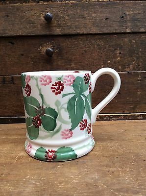 Emma Bridgewater Wiveton Hall Raspberry Half Pint Mug - New 1st