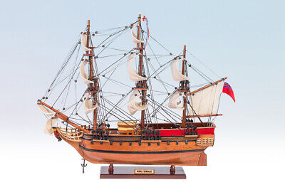 Hms Sirius Tall Ship  Boat Completed Handmade Wooden Model Gift Home Decor 45Cm