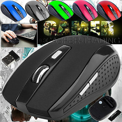 Wireless Mouse Cordless 2.4GHz USB Dongle Optical Scroll For PC Computer Laptop
