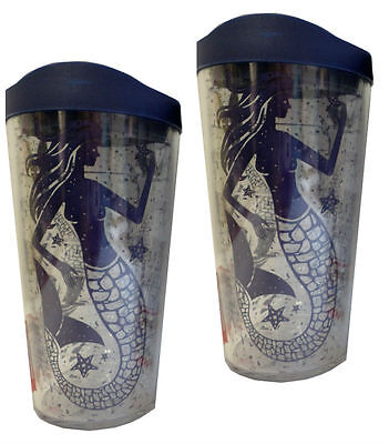 Tervis Tumbler Hot And Cold Liquids Mermaids 16 Ounce Double Wall Lot Of Two New
