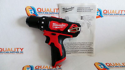 "New Milwaukee 2407-20 M12 12V Li-Ion Cordless 3/8"" Drill/Driver - Bare Tool"