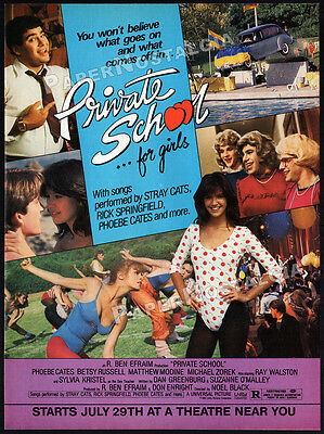 PRIVATE SCHOOL__Original 1983 print AD / movie promo__PHOEBE CATES_BETSY RUSSELL