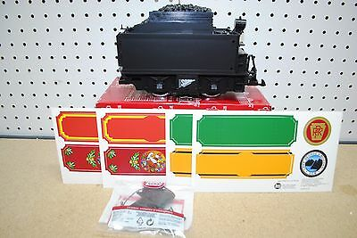 LGB 69672 Black Powered Coal Tender w/Sound *G-Scale* NEW (Christmas Decal)