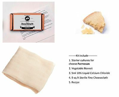 Parmesan Cheese Home Making Kit Recipe Calcium Chloride Vegetable Rennet