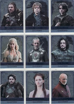 Game of Thrones Season 5 Reflections 16 Card Chase Set RM1 - RM16