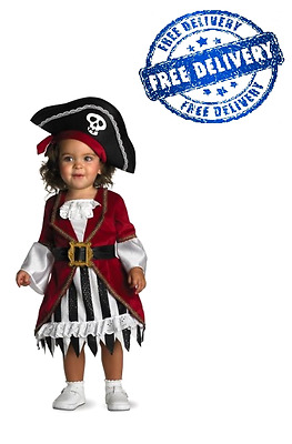 Girls Infant Pirate Costume Cosplay Dress Halloween Toddler Kids Party Outfit