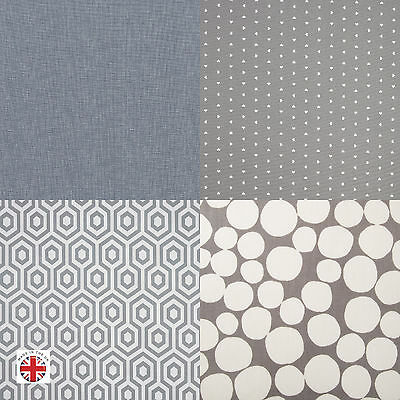Grey PVC Oilcloth Tablecloth Wipe Clean Multiple Sizes Multiple Designs Polka