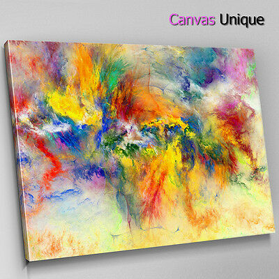 AB970 MODERN PINK yellow large Canvas Wall Art Abstract Picture ...