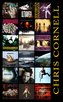 "CHRIS CORNELL album discography magnet (6"" x 3.5"") soundgarden audioslave RIP"