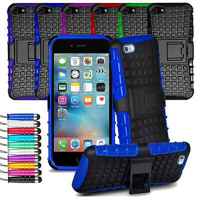 For iPhone SE 5 5S Heavy Duty Shock Proof Hard Case Back Cover + Screen + Stylus