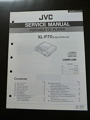 Original Service Manual  JVC XL-P70